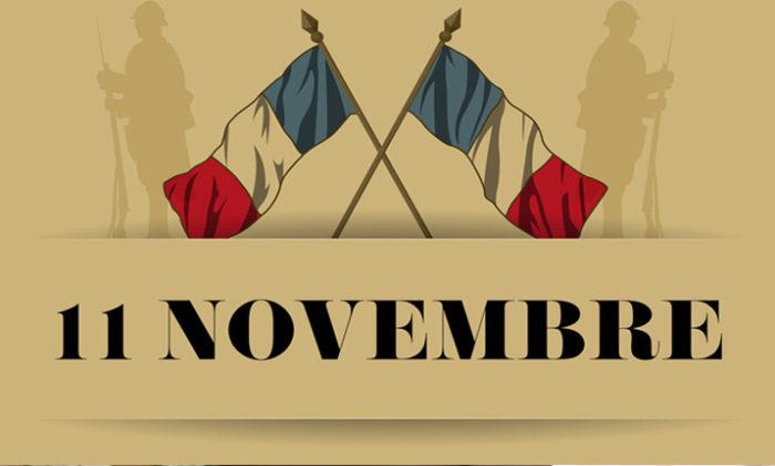 COMMEMORATION ARMISTICE 1918 : 11 NOVEMBRE A 11H