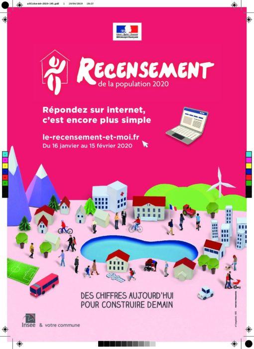 RECENSEMENT DE LA POPULATION : DU 16 JANVIER AU 15 FEVRIER 2020